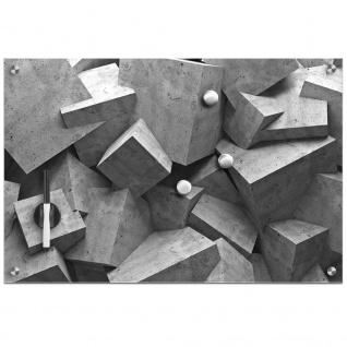 Glas Magnettafel World + 3 Magnete, 60x40 cm, ZELLER