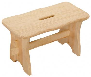 Hocker aus Holz universell, geeignet für Haus und Garten, Selbstdekoration - Kesper