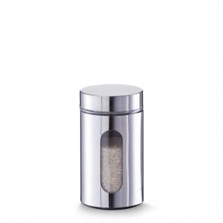 Vorratsbehälter, Glas, mit Visier, Inhalt 0, 9 Liter, silber, Zeller