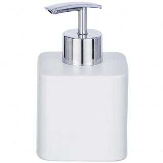 Spender mit Flüssigseifenpumpe, Keramikbehälter HEXA nachfüllbar - 290 ml, WENKO