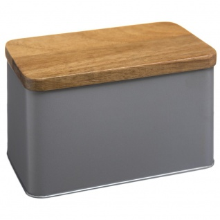 Dekorative Box, multifunktionaler Behälter mit Holzdeckel