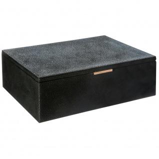 Schmuck-Organizer, Box mit Fächern und praktischem Spiegel, 26 x 21, 5 x 8, 5 cm, Atmosphera Créateur d'intérieur
