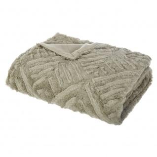 Felldecke, Warme Decke, Tagesdecke auf der Couch, Wolldecke, Plaid - gelb - Vorschau 1