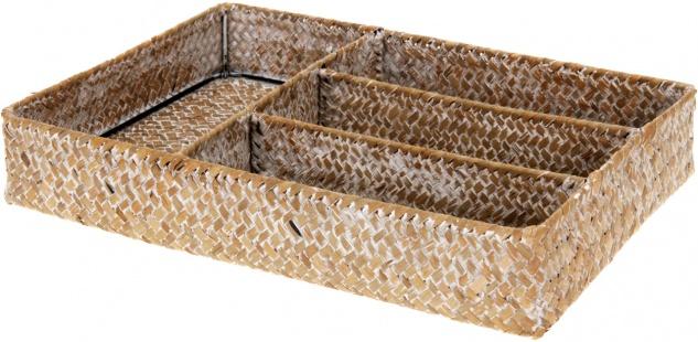Besteckkasten aus Seegras 33x23x6 cm