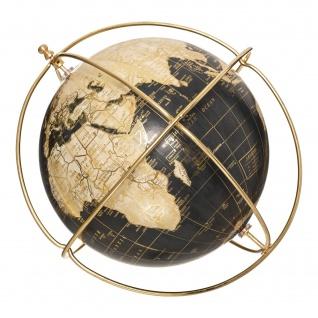 Deko-Globus mit goldenem Gestell, Ø 21 cm