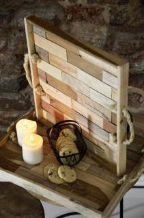 Home Styling Collection Serviertablett Aus Holz, 2er Set - Vorschau 3
