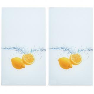 """ZELLER, Herdabdeck-Glasschutzplatten """" Lemon Splash"""" Glas dekor 30 x 52 x 1 cm 2"""