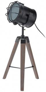 Bürolampe mit einem Bühnenreflektor Holz Stativlampe