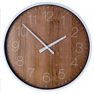 Runde Wanduhr mit Holzzifferblatt, Wanduhr, Küchenwanduhr, Holzwanduhr, Hängeuhr