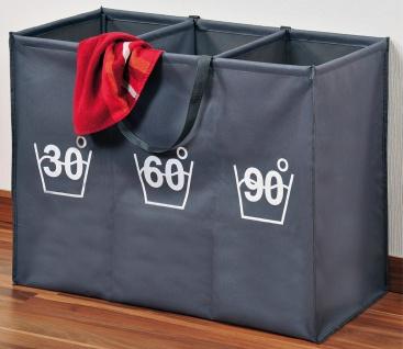 Wäschesortierer, Faltbarer Wäschekorb mit Fächern, Wäschekorb, Badezimmerkorb - Vorschau 2
