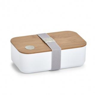 Lunchbox mit Fach, 19 x 12 x 7 cm, schwarz, ZELLER - ZELLER