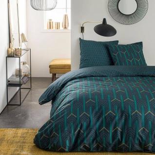 Bettwäsche mit geometrischen Mustern, 220 x 240 cm, Baumwolle