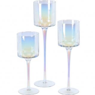 Kerzenleuchter, Weiß, 3 Stück - Home Styling Collection