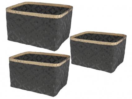 Aufbewahrungsbox aus Bambus Organizer - 3 Stück im Set