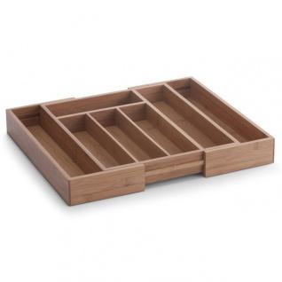 Zeller, Besteckkasten, ausziehbar, Bamboo