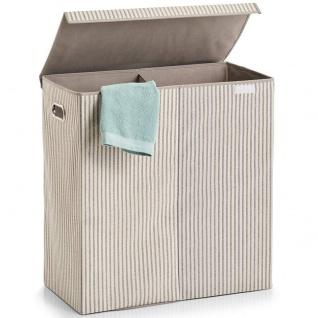 Zweikammer-Wäschekorb, faltbar, 120 l, 63 x 61, 5 x 31 cm, ZELLER - Vorschau 2