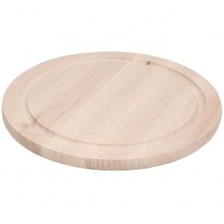 EH Excellent Houseware, rundes Schneidebrett aus Holz, 25 cm