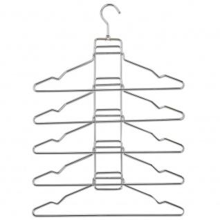 Kleiderbügel aus Metall 5 in 1, Kleiderbügel - ZELLER