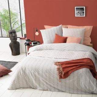 Grau geometrische Streifen Bettwäsche Set, Bettwäsche Bettdecke 100% Baumwolle 240x220cm - Atmosphera