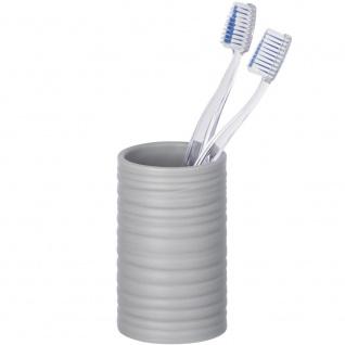 Zahnputzbecher, Badbehälter mit edler Prägung - WENKO