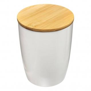 Keramikbehälter mit Deckel, 1, 5 L, weiß