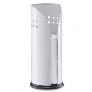 ZELLER Toilettenrollenhalter für 3 Toilettenrollen, Metall, ø 15 cm