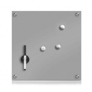Glas MEMO Magnettafel + 3 Magnete, 40x40 cm, ZELLER