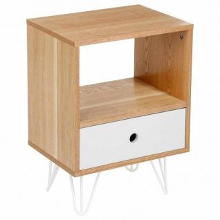 Retro Shulg Nachtschrank Deko skandinavische Schlafzimmer Möbel mit Schublade und Regalen