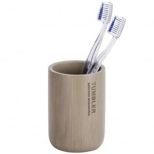Palo WENKO Zahnbürstenbehälter Bambus Badebecher für Zahnpasta - WENKO