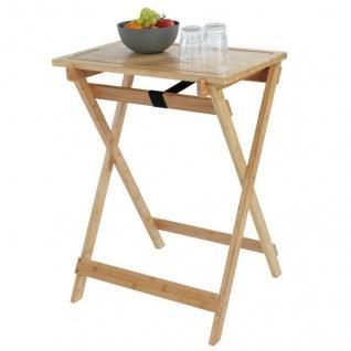 Klappbarer Tisch aus Bambus LUGO mit Schneidebrett, 2in1, WENKO