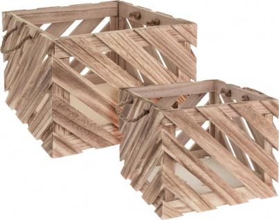 Aufbewahrungskisten aus Holz, 2 Größen im Lieferumfang enthalten - Home Styling Collection