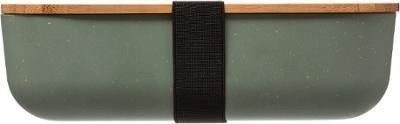 Lunch-Box mit Deckel aus Bambus, 20 x 11, 5 x 6 cm, grün - Vorschau 4