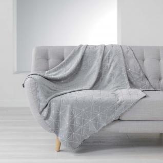 QUADRIS Tagesdecke, 125 x 150 cm, grau - Douceur d'intérieur