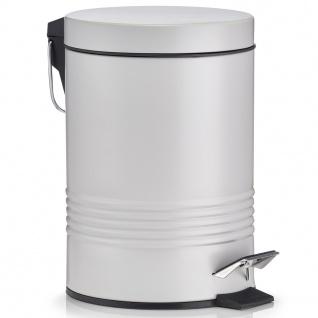 Ein Müllbehälter, ein Korb mit einem Deckel, ein Büromülleimer.