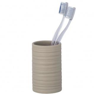 Zahnputzbecher, Zahnpasta-Behälter, beige, MILA WENKO
