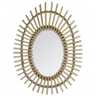 Wandspiegel Oval, dekorativer Spiegel, Badezimmerspiegel 43x58cm Sonne - golden
