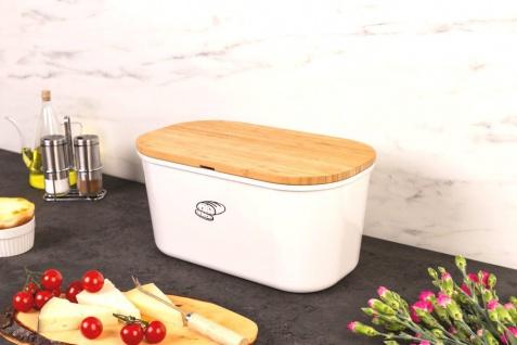 BreadBaker Brotdose mit doppelseitiger Bambusschneideplatte - Kesper