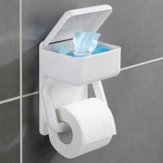 Wenko, Toilettenpapierhalter 2 in 1, Oberablage für feuchte Toilettentücher