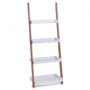 Leiterregal, 4 Ebenen für Accessoires, 145 cm Höhe, ZELLER