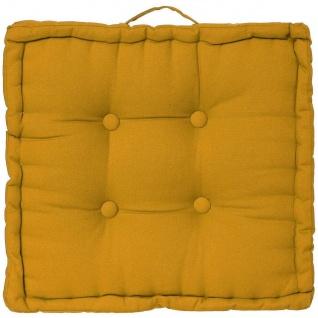 Bodensitzkissen, 40x40x8 cm, gelb - Atmosphera - Vorschau 4