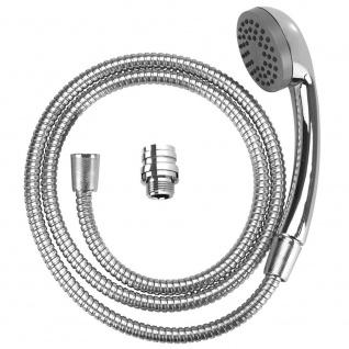 Handbrause Set für Waschtischarmatur, tragbares Edelstahl-Gadget, 150 cm Schlauch, WENKO