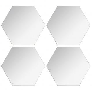 Satz von sechseckigen Spiegeln, vier Spiegel mit Kleber zu montieren.