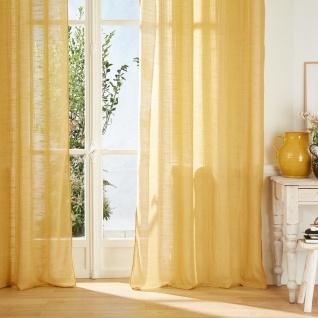 Weißer Deko-Vorhang, einfache Montage durch Metallring