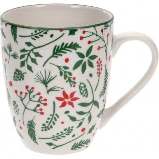 Porzellantasse mit Weihnachtsmotiv 300ml - Home Styling Collection