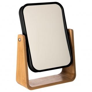 Schwarzer Spiegel im Bambusrahmen, eleganter Spiegel aus natürlichen Rohstoffen