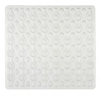 Gummi-Duschmatte ROCHA Anti-Rutsch-Pad mit Saugnäpfen - 54 x 52 cm, WENKO
