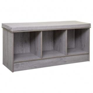 FIVE - 2-in-1 Bank und Aufbewahrung aus Holz, Grau, 3 Fächer Mix n Modul, einfarbig, cm - 5five Simple Smart