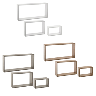 5five Simple Smart, Ein Satz von drei dekorativen Wandregalen