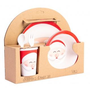 Kinderfrühstücksset Weihnachtsmann 5-teilig