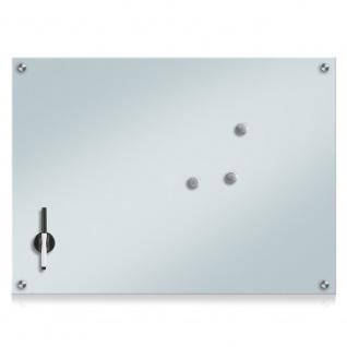 Glas-Magnettafel MEMO, Stein-Optik + 3 Magnete, 75 x 55 cm, ZELLER